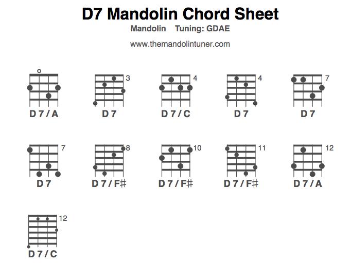 Mandolin chords am