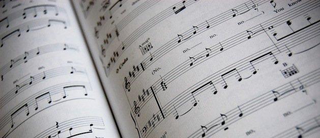 Music on sheet paper