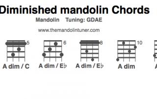 A diminished mandolin chords chart