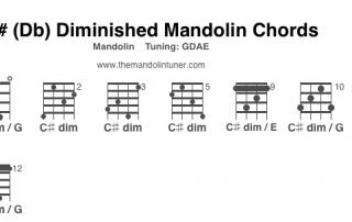 C#Db dim chord chart