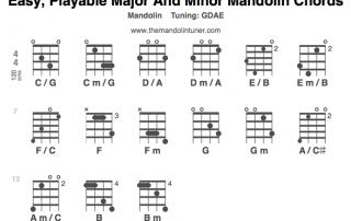 Easy Playable Mandolin Chords