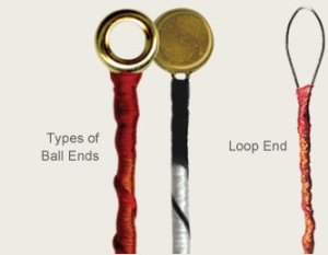 String ends ball-end loop-end